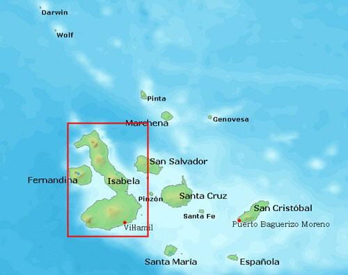 Bartolome Island Map